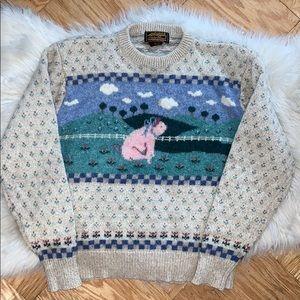 Vintage 1980's Eddie Bauer Wool Sweater